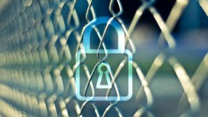 chain fence and padlock icon