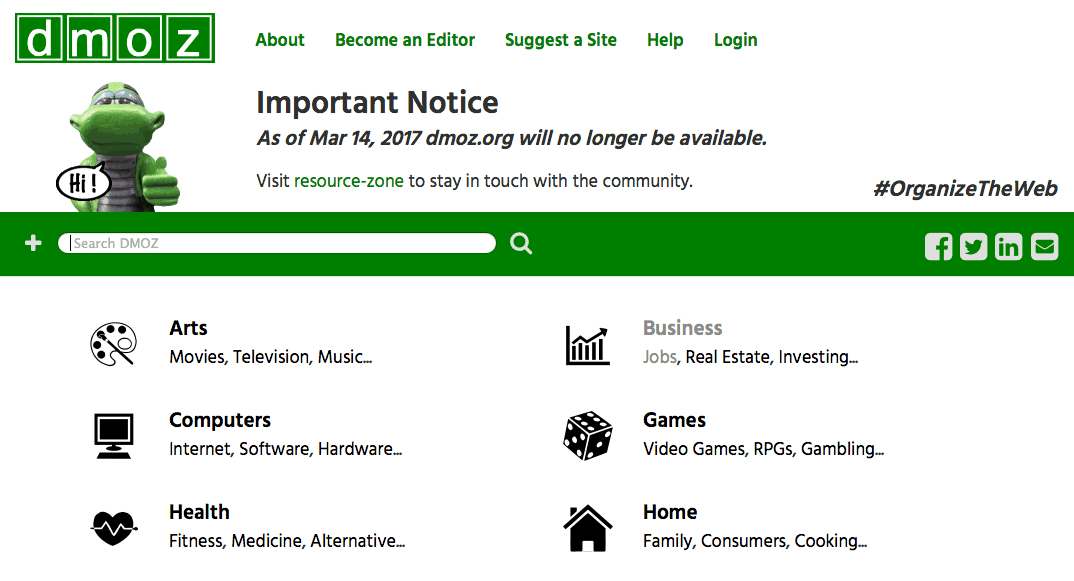 dmoz.org is Closing, what does this mean to customers?